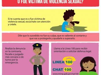 ¿Qué debes hacer si tu hijo o hija es o fue victima de violencia sexual?